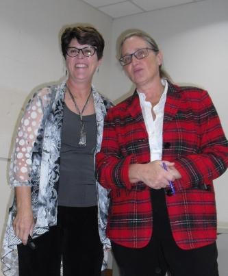 Karen Kay Buckley and President Irena