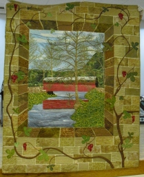 Creating quilted pictures