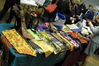 Gorgeous items with fabric to entice the members to buy.