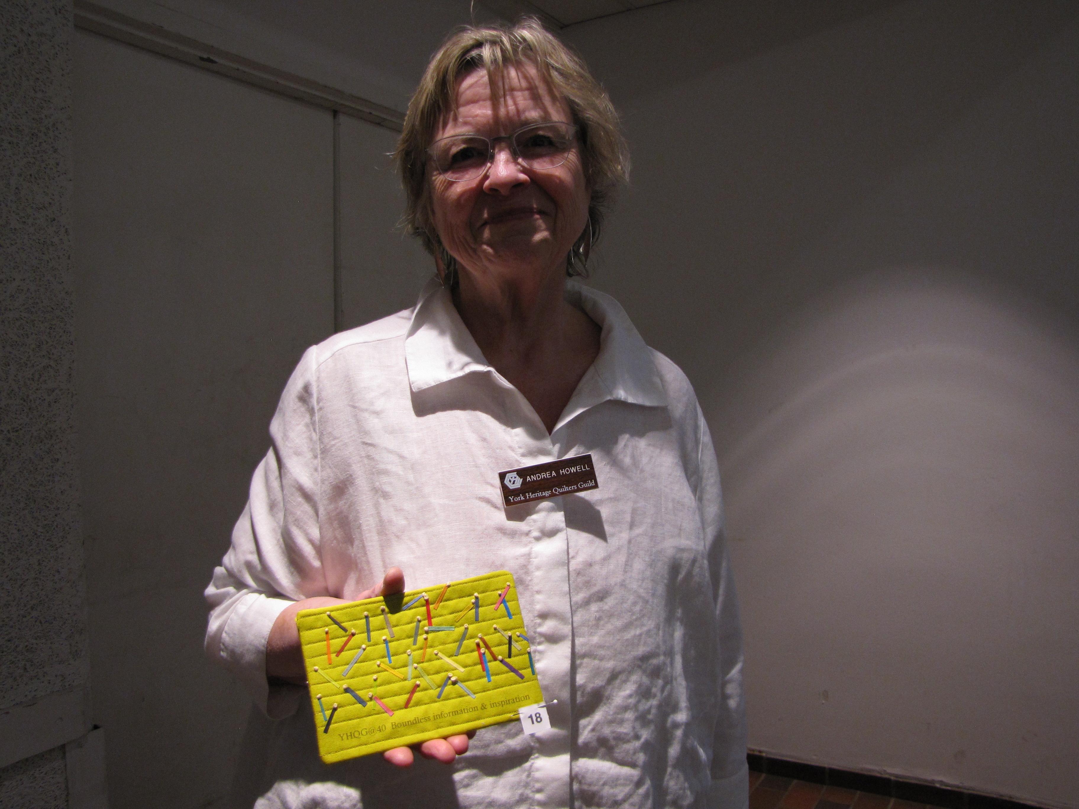 """Andrea Howell, winner in 4"""" x 6"""" category"""