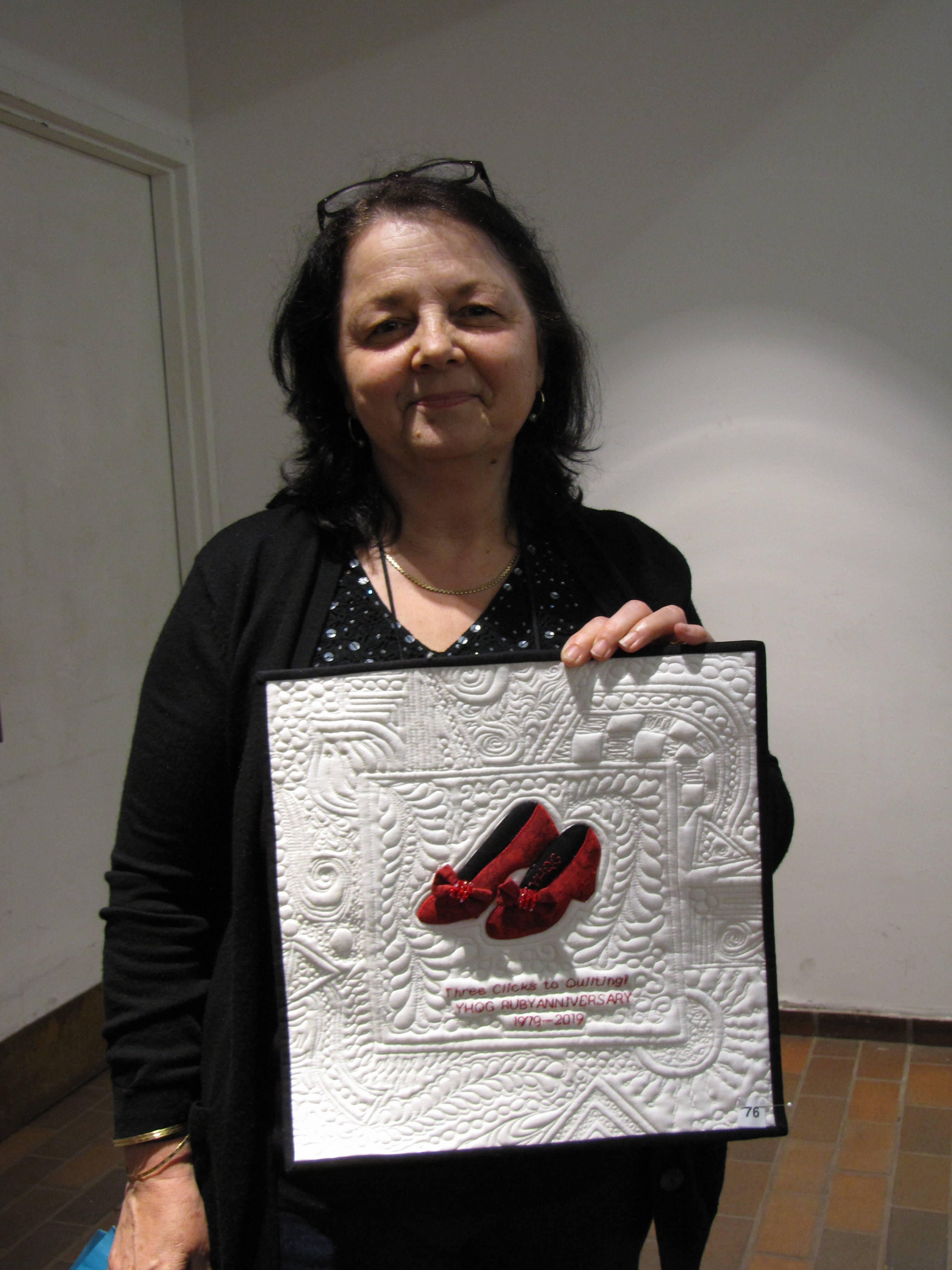 Tella Visconti holds her winning entry