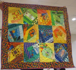 colourful kids quilt
