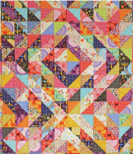 Half-square triangles quilt pattern image