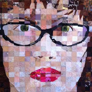 Sandra Bruce's self portrait in fabric